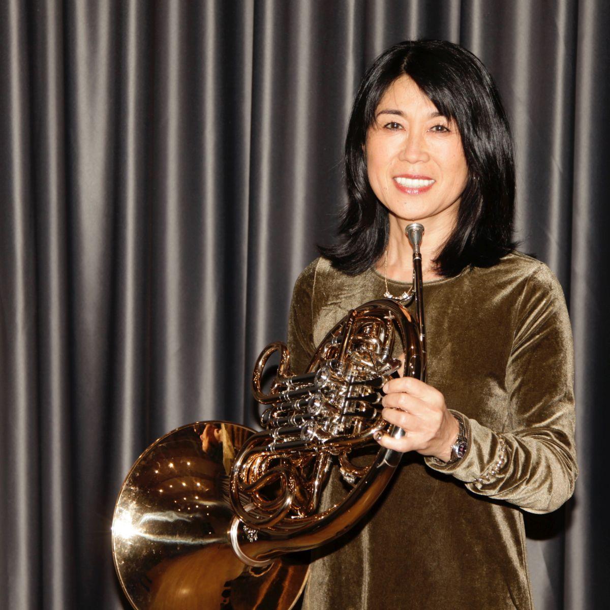 Bild von Takako Yamanoi mit Waldhorn