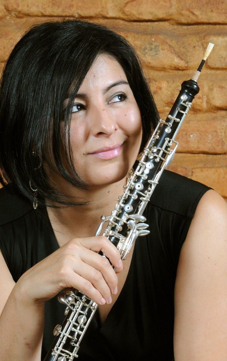 Foto von Ximena Poveda mit Oboe