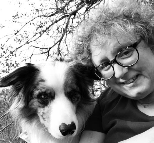 Grafik zur Veranstalung - Bild von Frau Laufer mit Hund